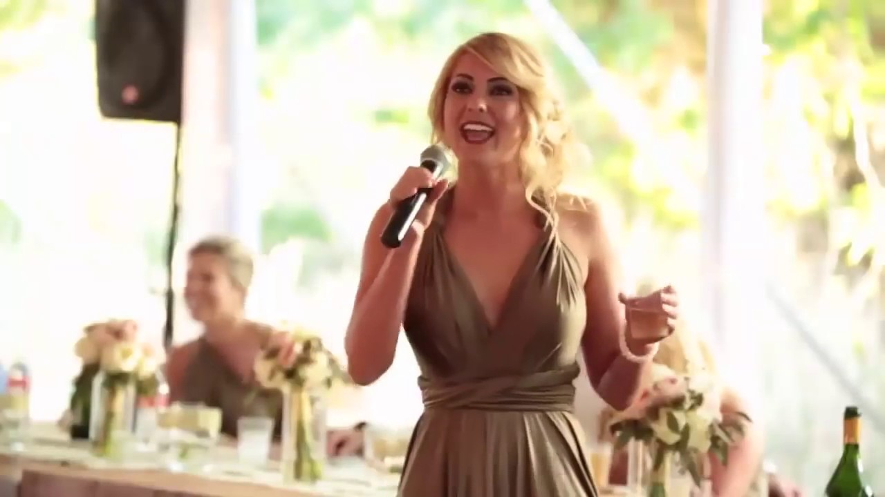 Sister of the bride makes best Maid of Honor speech !! Funny wedding ...