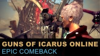 Guns of Icarus Online - Epic Comeback (Teamwork Gameplay)