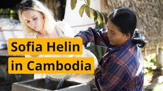 Sofia Helin from The Bridge visits WaterAid's projects in Cambodia | WaterAid