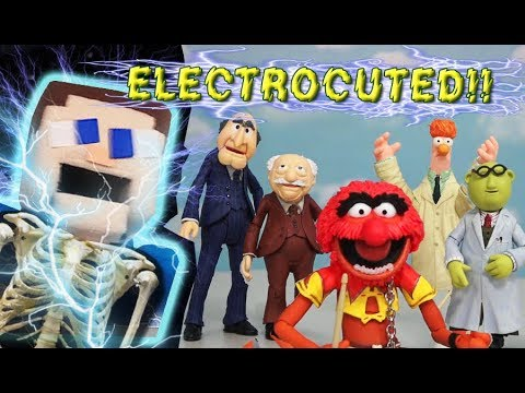 Minecraft Puppet Steve ELECTROCUTED in Muppets Series 2 Figures Diamond Select Toys Unboxing