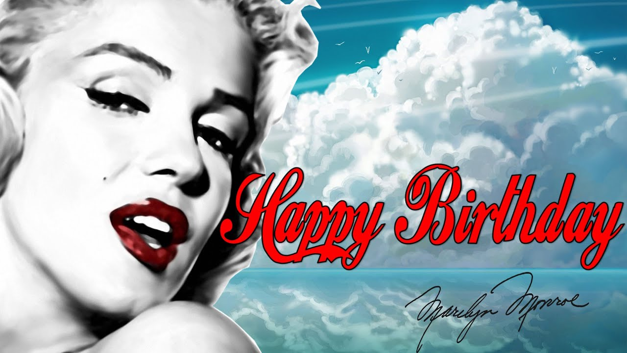 Marilyn monroe happy birthday youtube marilyn monroe happy birthday bookmarktalkfo Image collections