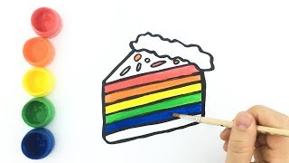 Cake and Ice Cream - Drawing and Coloring for Kids and Toddlers