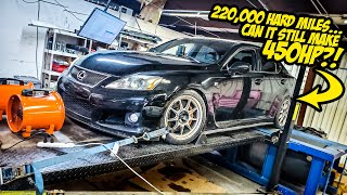 Here's How Much Horsepower A 220,000 Mile Lexus IS-F ACTUALLY Makes (Driven HARD For YEARS)