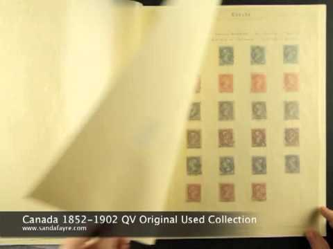 Canadian Stamps - 1852-1902 Queen Victoria Stamp Collection - nicely written up!