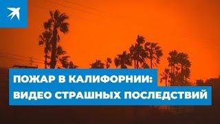 Пожар в Калифорнии: видео страшных последствий