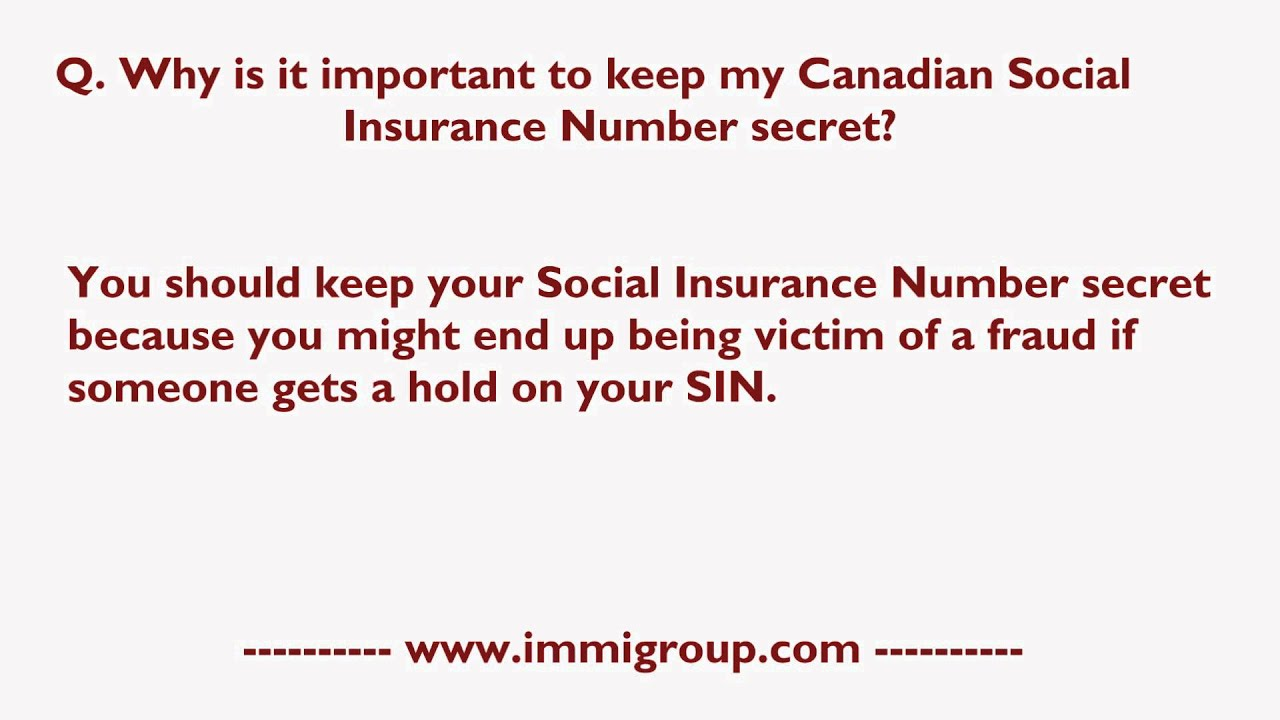 Search for Canada Social Insurance Numbers | Prevent Data ...
