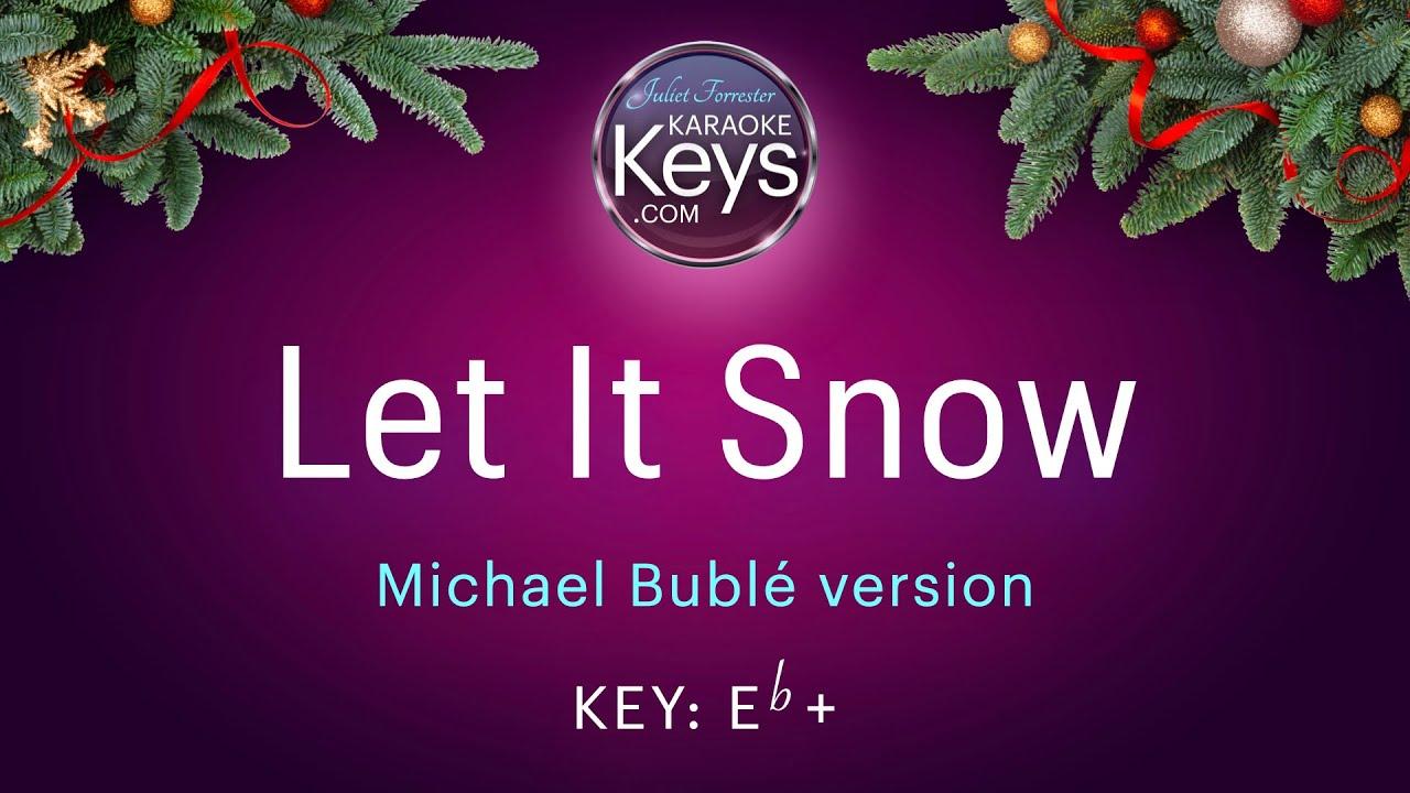 Let It Snow - Michael Bublé version  (karaoke piano) WITH LYRICS