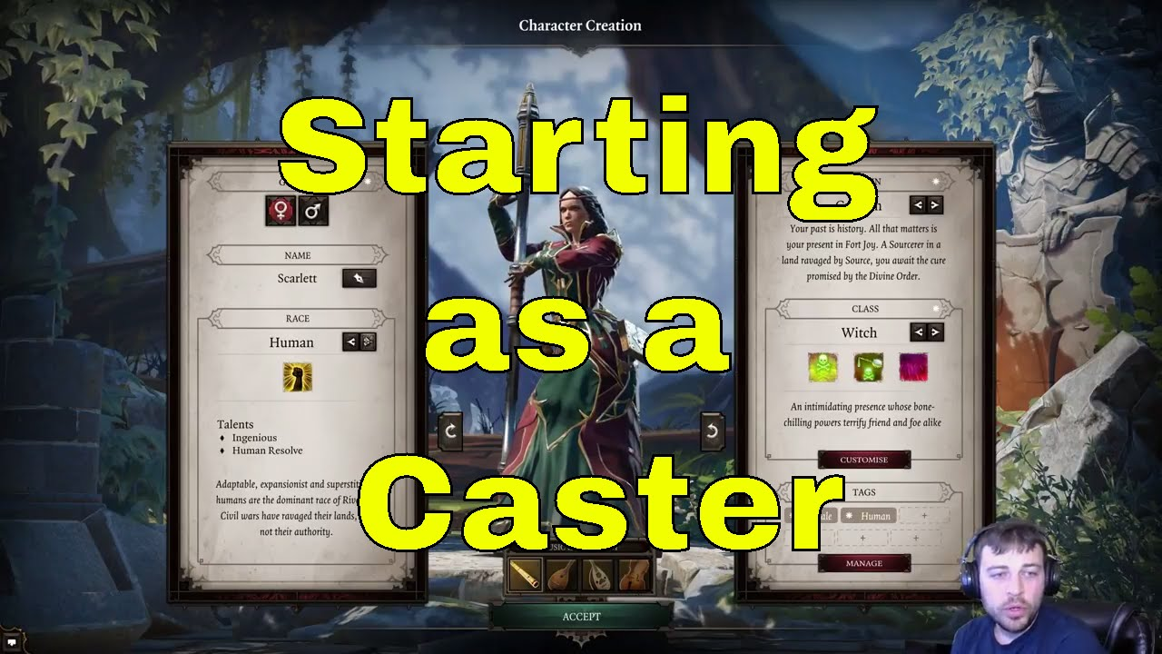 Divinity Original Sin 2 Character classes at start Part 4 Caster