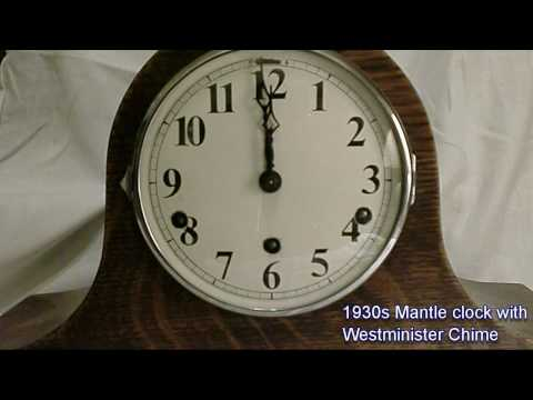 1930s Mantle Clock Westminster Chimes