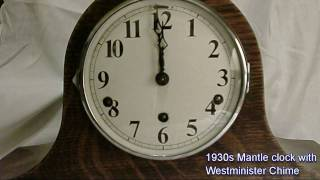 1930s Mantle Clock Westminister Chimes