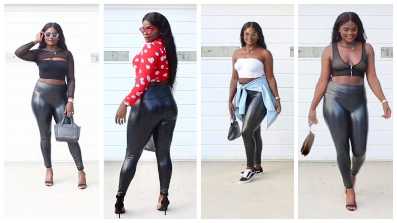 [VIDEO] - HOW TO STYLE & WEAR LEATHER LEGGINGS FALL 2018 LOOKBOOK TRENDS | POSHMARK Collab 2