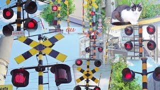 関西の電車の踏切動画集 私鉄の近鉄・南海・京阪・阪急・叡山・阪堺・JR西日本から railroad crossing japan