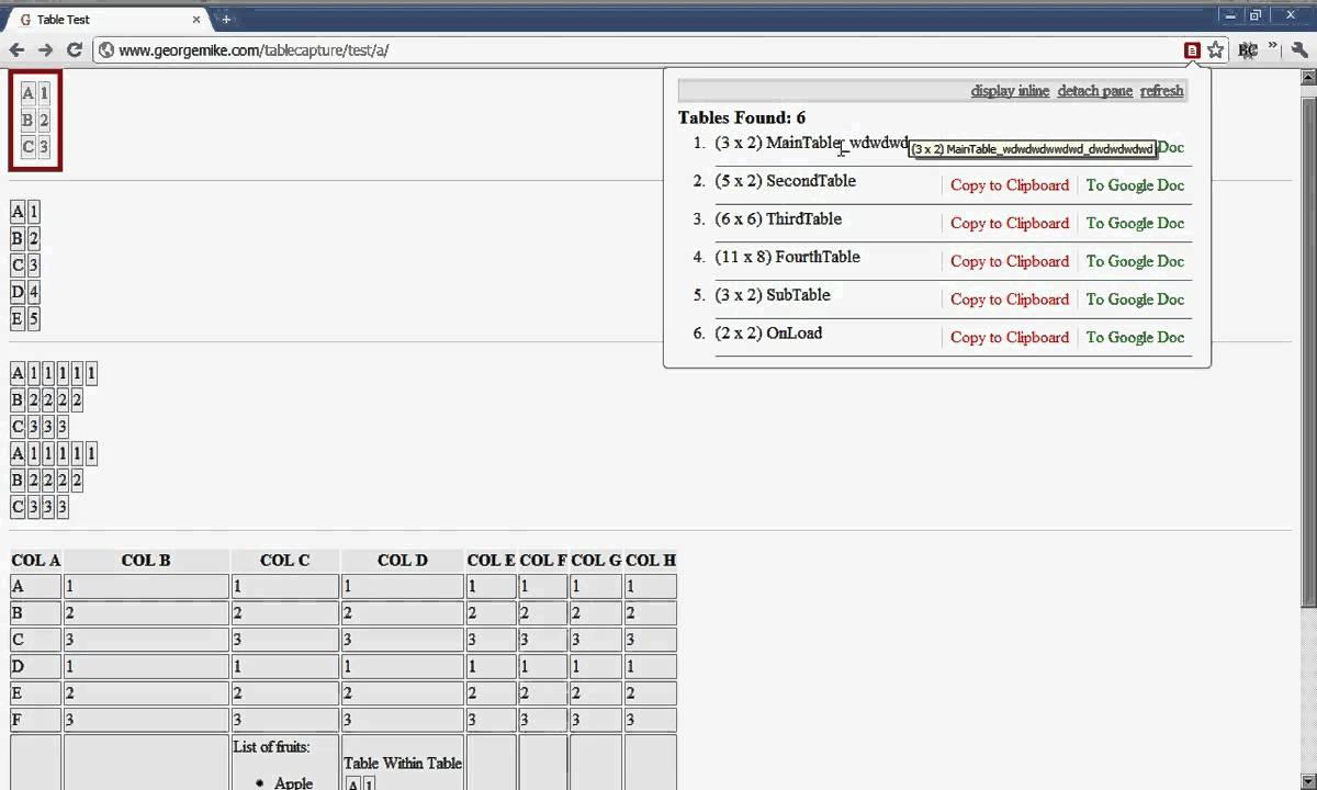 Extension Walkthrough Chrome CaptureA Table Table l1J3KTuFc5