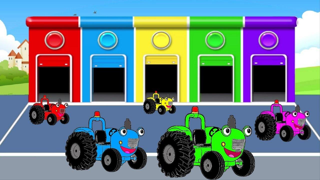 Песни для детей - Едет трактор - Учим цвета на английском ...