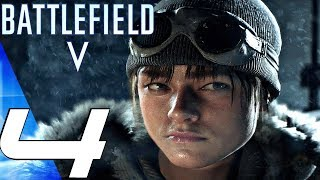 BATTLEFIELD 5 - Gameplay Walkthrough Part 4 - Female Soldiers vs Army (Ultra Settings)