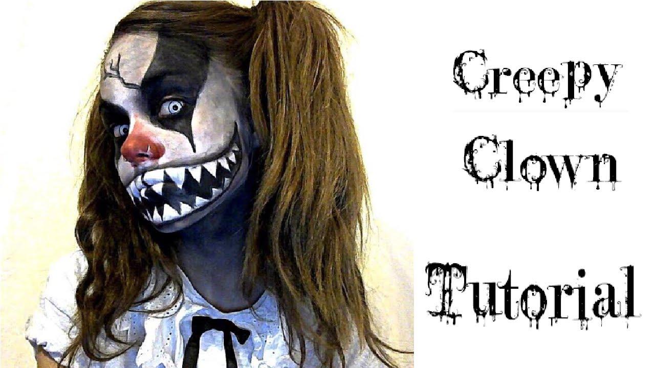 halloween ideas makeup amp face paint creepy clown youtube