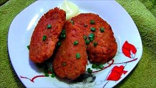 Котлеты из лососевого фарша Fish cakes of minced salmon
