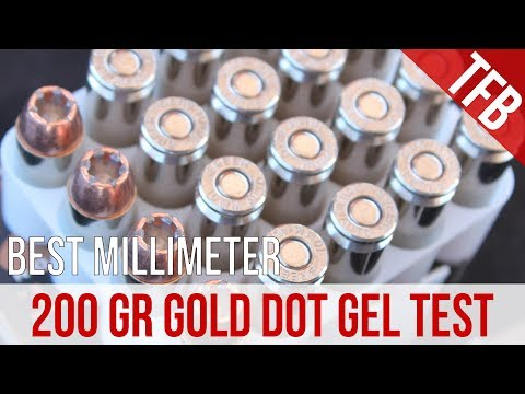 I Screwed Up: Speer 10mm 200gr Gold Dot Gel Test And Retraction