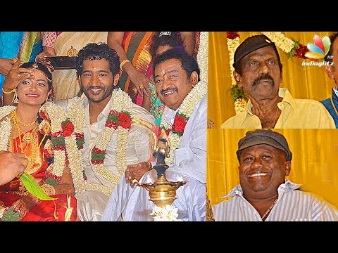 Goundamani, Senthil attends  Pandu Son Wedding Reception | Comedy Actor