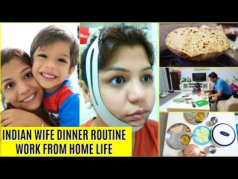Indian DINNER Routine Work From Home MOM Life | SuperPrincessjo
