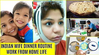 Indian DINNER Routine Work From Home MOM Life | SuperPrincessjo thumbnail