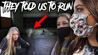 GHOST TOLD US TO RUN LIKE HE DIDN'T... (SCARY HAUNTED SCHOOL)