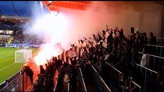 SKN St. Pölten - SK Sturm Graz, ÖFB Samsung Cup 2013/14, 07.05.2014, Bengalo Pyro Choreo