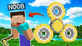 NOOB Vs SPINNER DE LUCKY BLOCKS GIGANTE! 😂MINECRAFT TROLL+ ROLEPLAY | EL NOOB #10