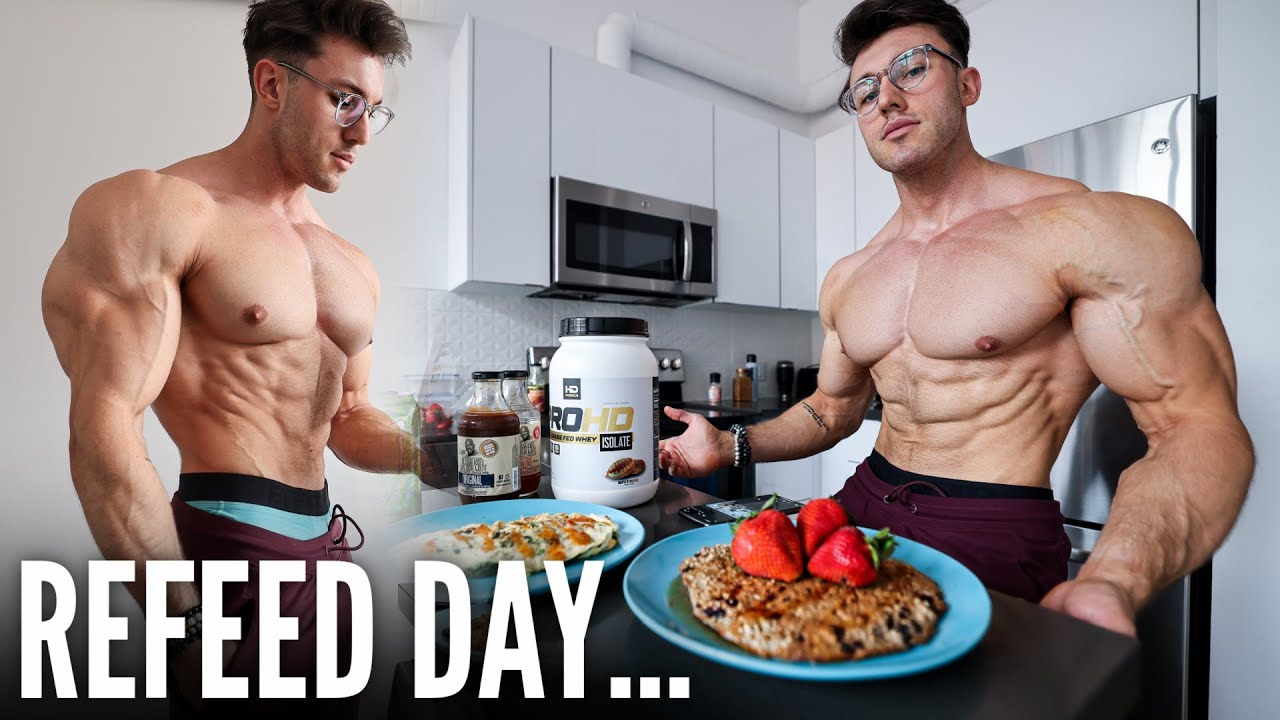 FIRST HIGH CARB DAY AFTER 90 DAYS OF DIETING   FULL DAY OF EATING...