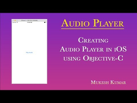 How to create Audio Player in iOS using Objective-C ?