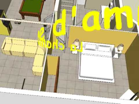 maison 3d par google sketchup youtube. Black Bedroom Furniture Sets. Home Design Ideas