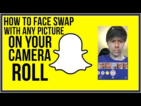 How To Face Swap With Any Picture In Your Camera Roll - Snapchat Tutorial