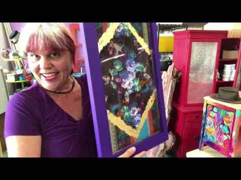 How to Decoupage Tissue Paper Napkins with NO wrinkles! LIVE from Debi's Design Diary and DIY Paint.