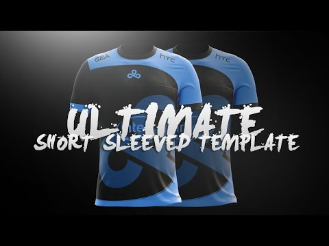 Ultimate Short Sleeved Jersey Template l Design Tutorial #12