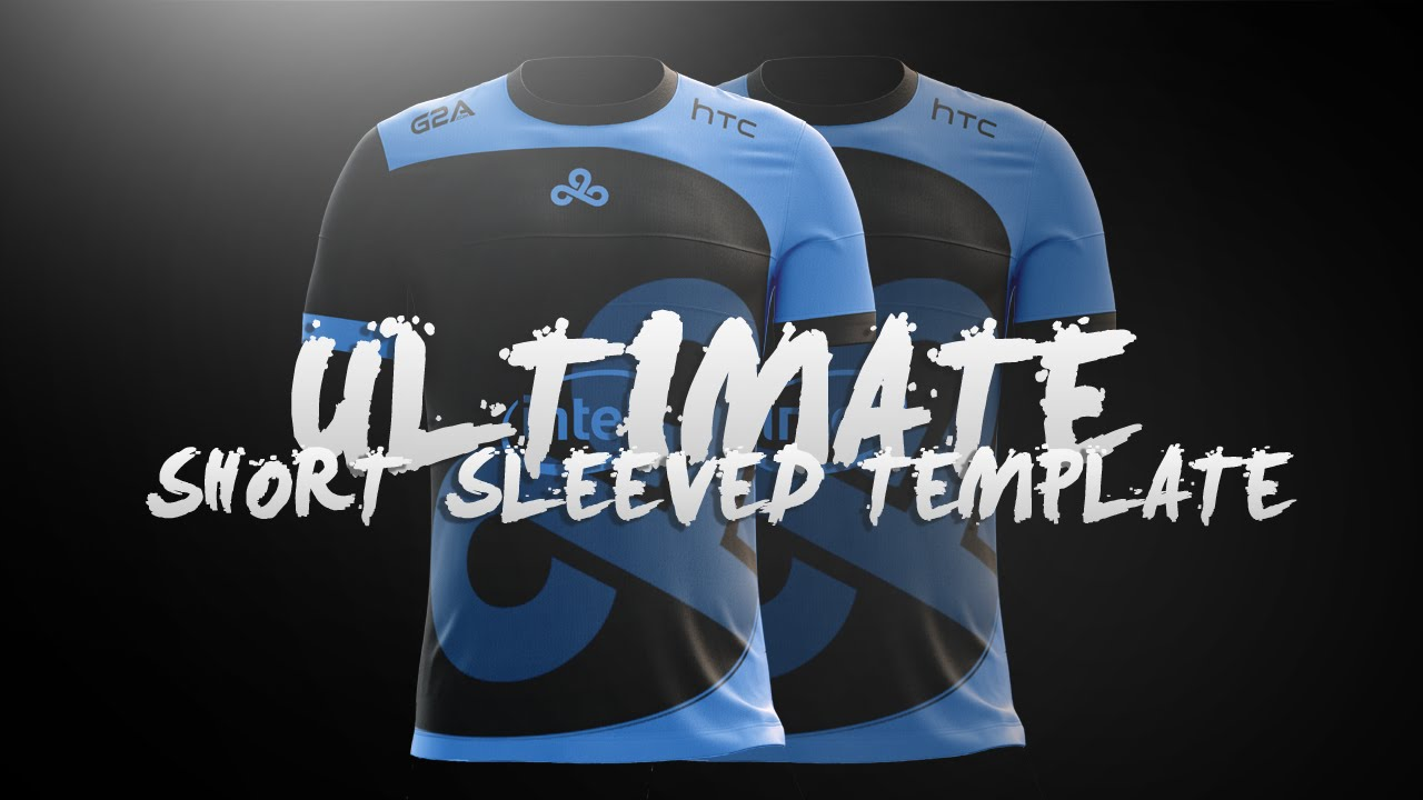 Ultimate Short Sleeved Jersey Template l Design Tutorial #12 - YouTube