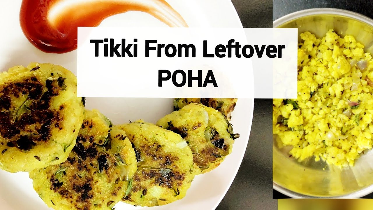 Tasty Tikki from Leftover Poha | First Time Mom