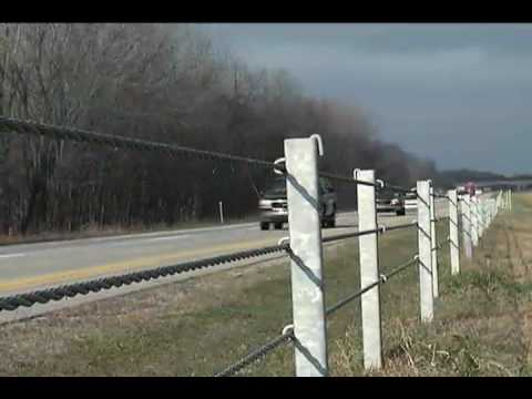 Median Cable Guardrail - YouTube