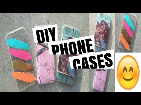 DIY Cell phone cases| Feather, Camo, Wood transfer *500 sub giveaway