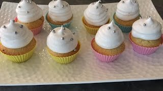 Vanilla Cupcake With Dulche De Letche Filling And Marshmallow Frosting 1