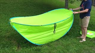 How to Fold the Crane Pop-Up Sun Shelter