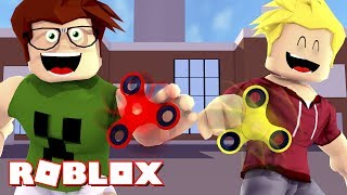 BUILDING a FACTORY of FIDGET SPINNER! -Roblox