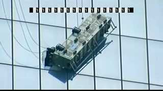 RAW VIDEO: Window washer stranded on side of One World Trade Center