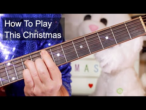 'This Christmas' Donny Hathaway Acoustic Guitar Lesson