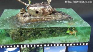 Diorama of the Day: Saipan Beach M4A2 Sherman Tank