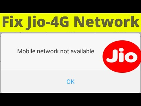 Fix Jio-4G Network Problem(Data Connection & Calling) Also Solve Mobile  Network Not Available Error