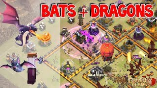Bat Spell + Dragons! OP Attack Strategy in Clash of Clans