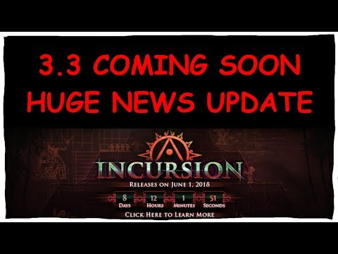 3.3 INCURSION LEAGUE NEWS UPDATE: ITEMS/VAALS/DIV CARDS AND MORE | Demi 'Splains