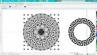 Corel Draw Tips & Tricks Greek Pattern clean up, a hard one! PART 3