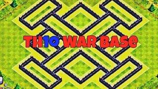 TH10 war Base 2016 275 Walls/Trophy Base Anti Everything 275 Walls