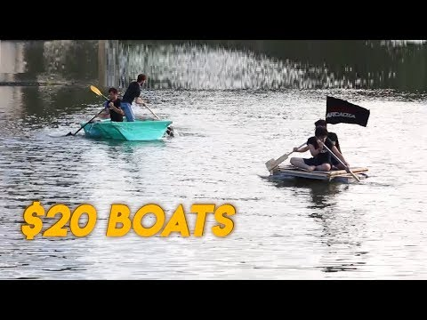 We Built $20 Boats in Under 6 Hours and Raced Them.